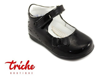 Calzado Zapato Niña Coloso Negro 917 Botita Charol Escolar