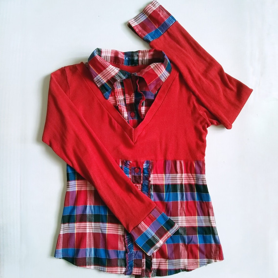Camisa Sueter Para Damas Manga Larga Estampada Talla S