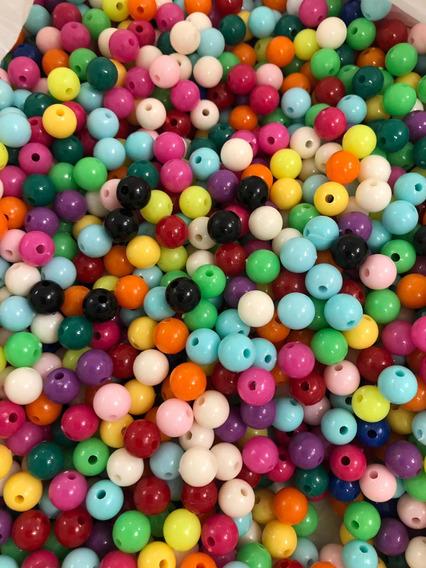 200 Cuentas Plástico Colores 8mm. Oferta!