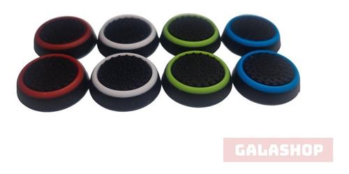 4 Pares Grip Borracha Silicone Botão Para Xbox Ps4 Ps3 Wii