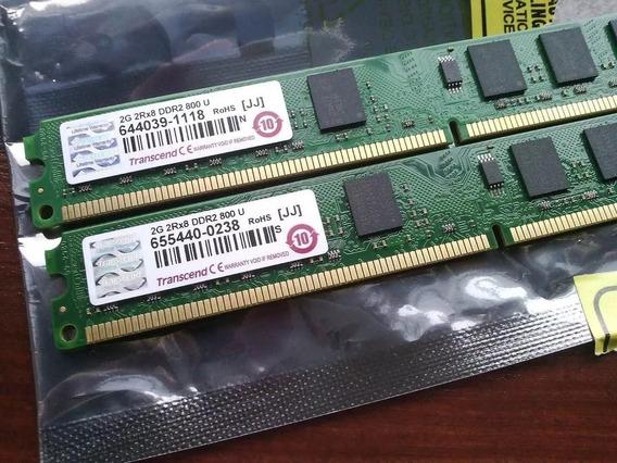Memoria Ram Pc2-6400 2gb Ddr2 800mhz Transcend Dimm X1