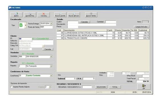 Software Facturación Gestión Comercio/gimnasio/club/remis