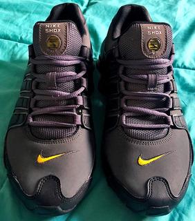 Tenis Nike Shox Running Nz Para Correr Unisex Gris 8 Usa