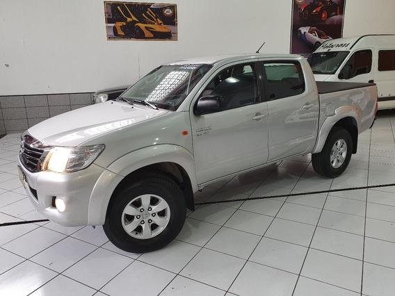 Toyota Hilux Dupla Sr Flex 2012 Prata 2.7 Autom Acessorios