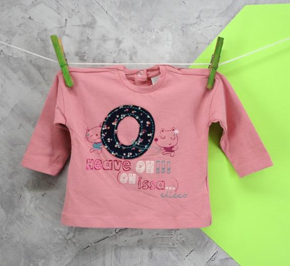 T-shirt Bebê Infantil Manga Longa Chicco 12 Meses