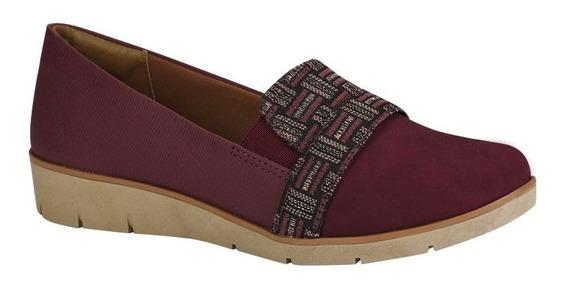 Sapato Feminino Alpargata Campesi L6091 Anabela Vinho Invern