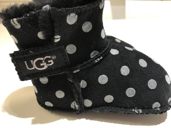 Ugg Negras Polka Dots Bebe 6-12meses