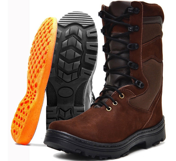 Bota Coturno Atron Shoes Militar Segurança 290 + Top Top