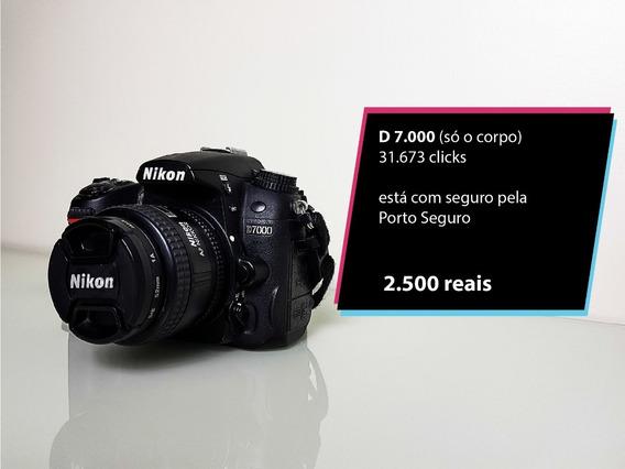 Câmera Profissional Dslr Nikon D7000 Só O Corpo Barato