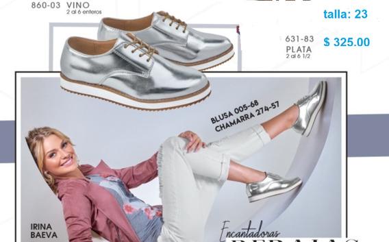 Zapato Dama Color Plata, Cklass Mod. 631-83 Oferta ¡