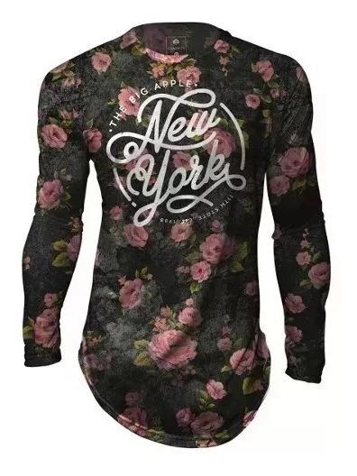Camiseta Masculina Floral Flores Kings Brooklyn Ny Gamer 33