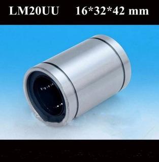 Rodamientos Lineales Lm20uu Ideal Cnc 20mm Lm20
