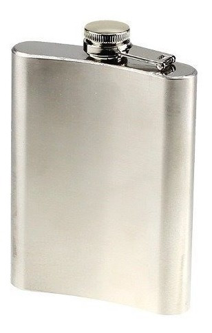 15xcantil Porta Bebida Bolso Flask Inox 8oz Whisky Vodka