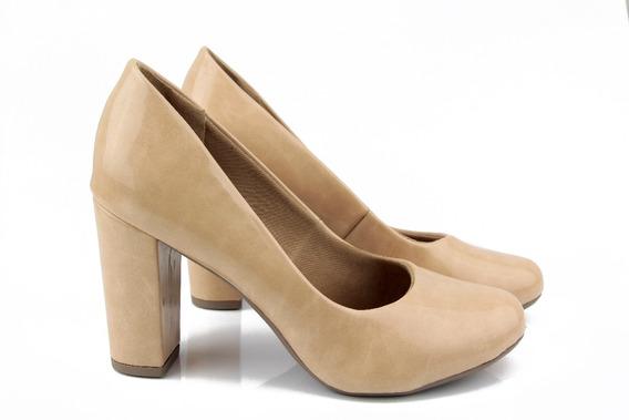 Sapato Boneca Nude De Verniz