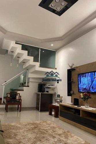 Sobrado De 226 M² Com 03 Dormitórios Planejados (sendo 01 Suíte) À Venda,  - Planalto - São Bernardo Do Campo/sp - So0371