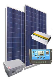 Kit Solar Inversor 1000w 220v Panel Energia Casa Campo M5