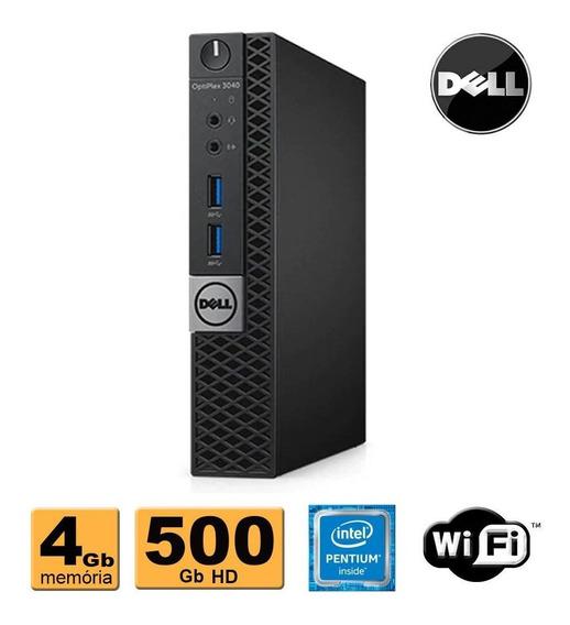 Mini Computador Dell 3040 Pentium G4400t 4gb 500gb Wifi