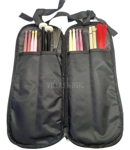 Capa Bag Pq Para 8 Pares De Baquetas 1 Chave Envio Imediato