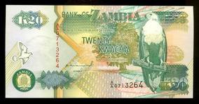 Cédulas Da Zâmbia (duas) - Flor De Estampa - Lote 354