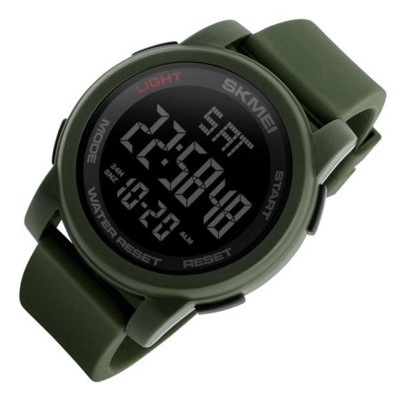 Relógio Masculino Skmei 1257 Dig Led Verde Sport