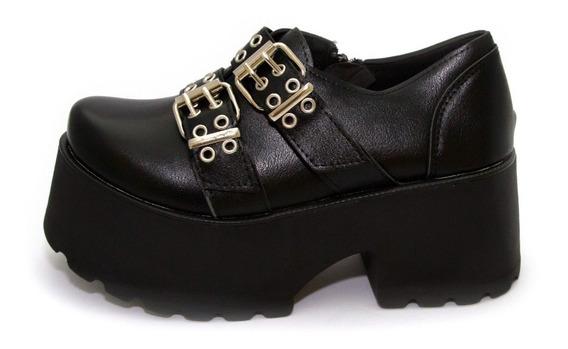 Zapatos Plataforma Doble Cinto Class Express Art. 820