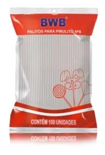 Imagem 1 de 1 de 100 Palitos Para Pirulito 9cm Topper Cristal Transparente