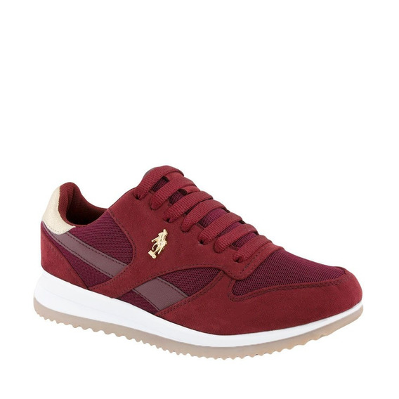 Tenis Polo Mujer Originales Color Vino Casuales Comodos Msi