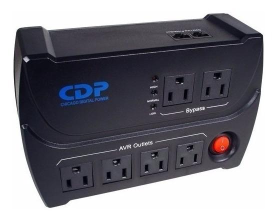 Regulador Protector De Voltaje Cdp 6 Tomas Pc Tv Calidad100%