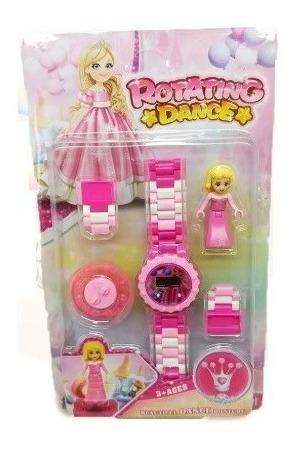 Relógio Digital Infantil Princesa Com Boneca Lego Diversão