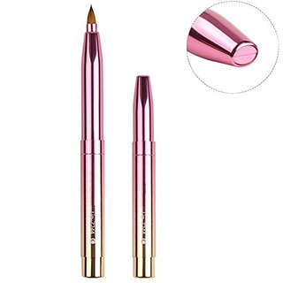 Zoreya Fashion Gradient Color Retráctil Lip Brush Travel Li