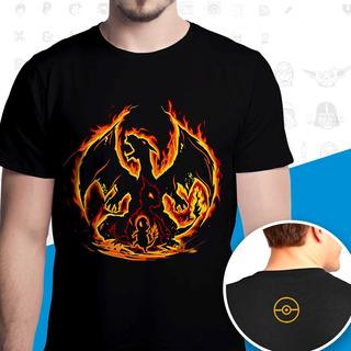 Camisa Camiseta Pokemon Charizard Evoluções Evolução Blusa