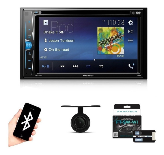 Central Multimidia Pioneer Bluetooth Tv Camera + Interface