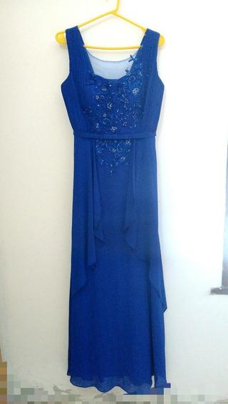 Vestido Gala Formal Largo Azul