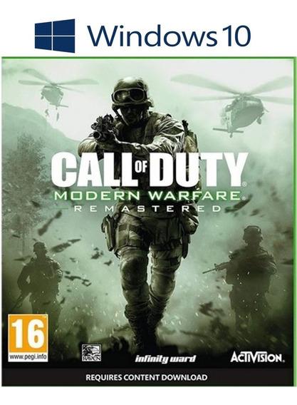 Call Of Duty Modern Warfare Remaster Pc Windows 10 Conectado