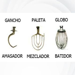 Gancho, Paleta Y Globo Para Batidora Mod.bati-20 Marca Rhino