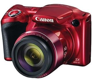 Canon Powershot Sx420 Red Cámara 20mp 42x Wi-fi Bluetooth