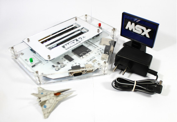 Msx 2+ Turbo Zemmix Neo Com Fm Scc Megaram + Sd + Brindes + Fonte + Case Acrilico + Logo Msx + Capa