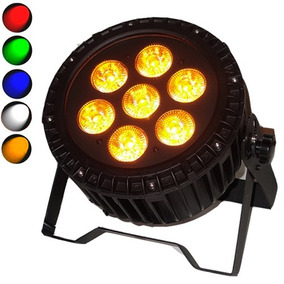 Refletor De Led Pls Power Led Rgbwa Dmx 12w C/ Cor Âmbar