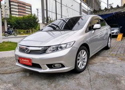 Civic Lxs 1.8 Prata 2014