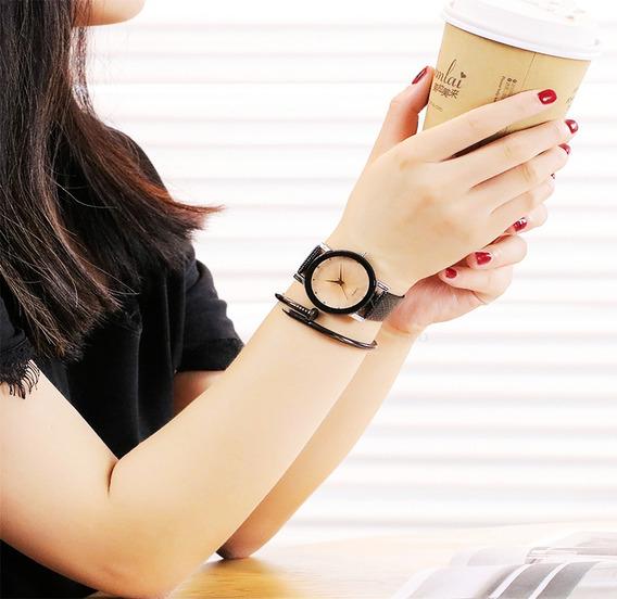 Relógio Barato Feminino Com Strass Fumê Ótima Qualidade