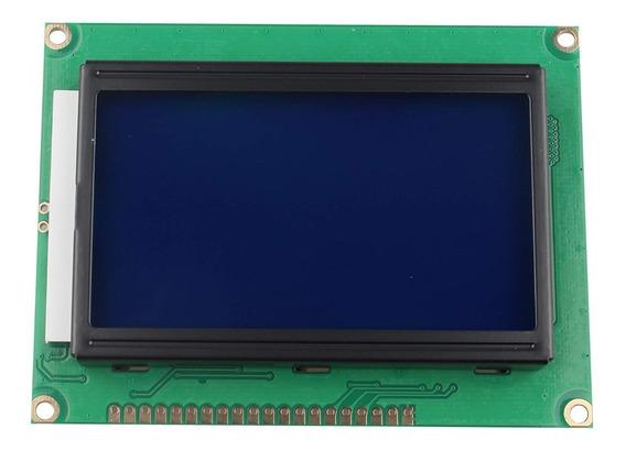 Display Lcd Gráfico 128x64 Backlight Azul - Display 12864