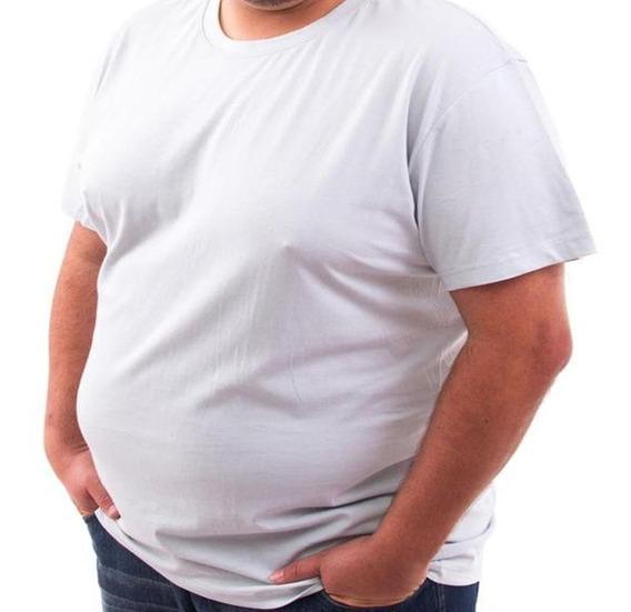 5 Camisetas Plus Size Camisa Grande Malha Fria Qualidade