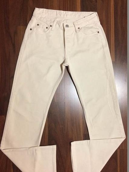 Calça Jeans Feminina Levis 513 38 Oferta Original Creme