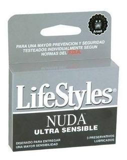Preservativos Lifestyle Nuda 3 Unidades / Superstore
