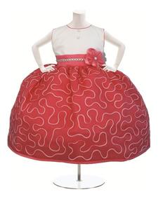 Elegante Vestido De Niña Para Fiesta Bordado En Cintilla