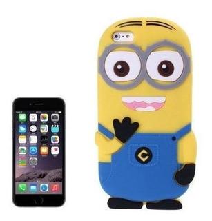 iPhone 6 Plus Case Funda Goma Silicon 3d Protector Minion