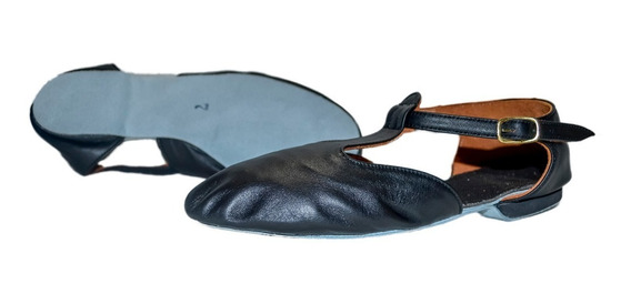 Zapatillas De Danza - Guillerminas De Cuero Color Negro