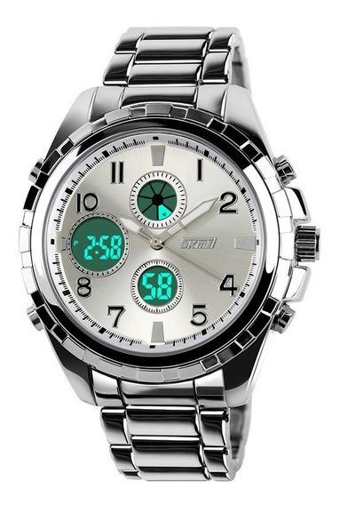 Reloj Hombre Skmei 1021 Acero Inoxidable Resistente Al Agua