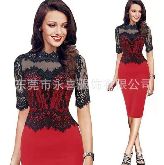 Vestido Importado Fiesta Oficina Romi Qilaixing