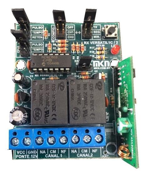 Receptor+controle Remoto Duplo Canal 433 Mhz + Fonte12+12v